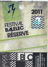 Festival Balelec 2011