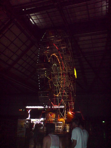 Big Day Out Ferris Wheel inside the 'Boiler Room' hall