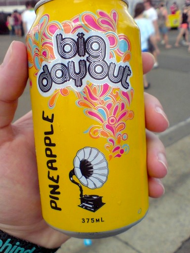 Big Day Out branded Pineapple Drink