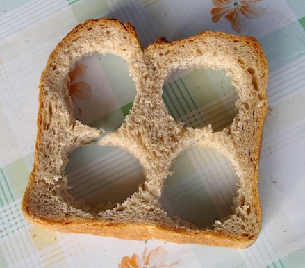 Bread with holes