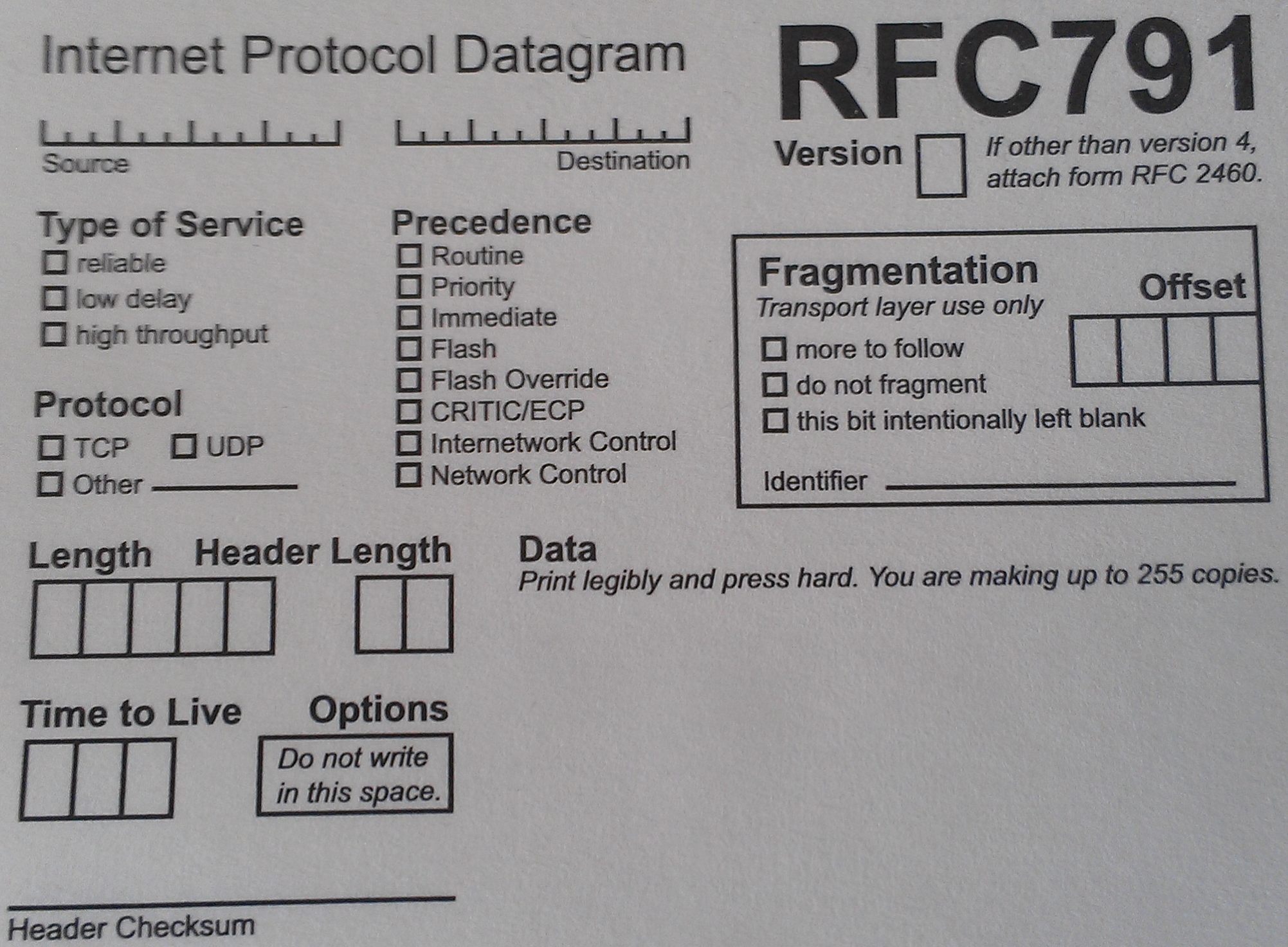 Form RFC 791